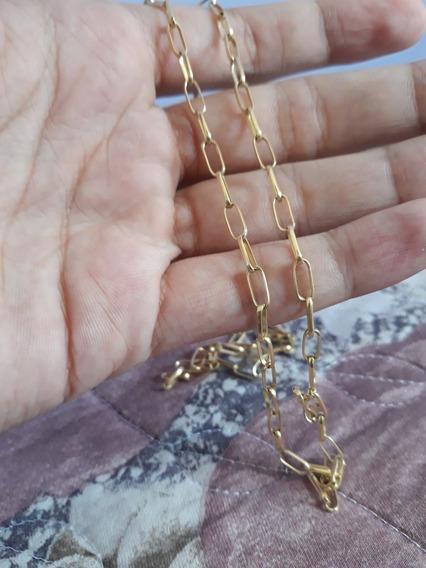 Corrente Ouro 18 K Cartie 12 Gramas 70 Cm Maciça