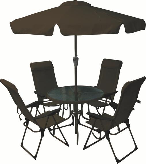 Conjunto Mônaco Jardim Cadeira Mesa Ombrelone Bel Fix 83200