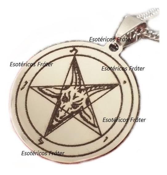 Pentagrama Invertido Aço Baphomet Satan Lavey Bode Lúcifer