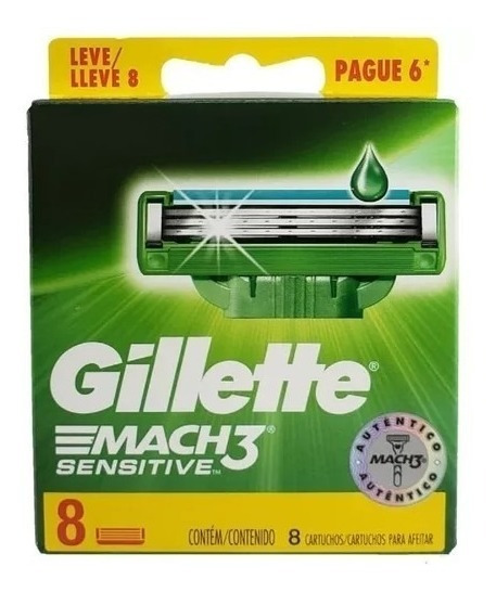 Lâminas De Barbear Gillette Mach3 Sensitive - 32und