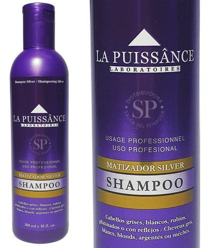 Imagen 1 de 4 de Shampoo Matizador Violeta Silver X 300 Ml  La Puissânce