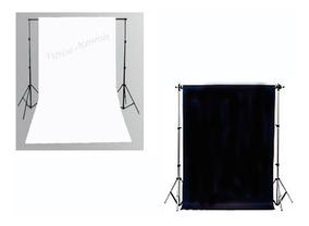 2 Tecido 3x6 Branco/ Preto Fundo Infinito Estudio Fotografo