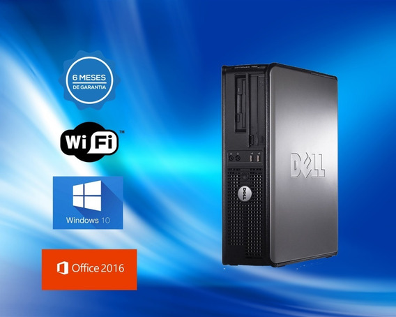 Dell Optiplex Dual Core 8gb Ddr3 Hd 500gb Sata Dvd Wifi