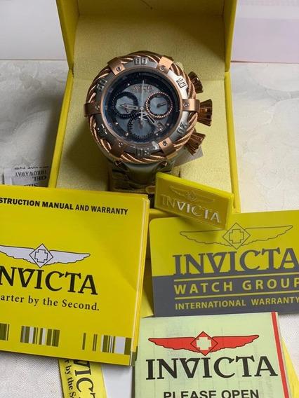 Relógio Invicta Bolt 21342 Ouro Rosê 18k E Prata Até 100 Mts