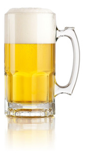 Jarra Cervecera Chopp Cervecero Vidrio 1 Litro 20x10cm