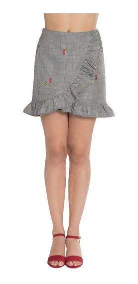 Falda Corta Dama Casual Moda Cuadros X83102