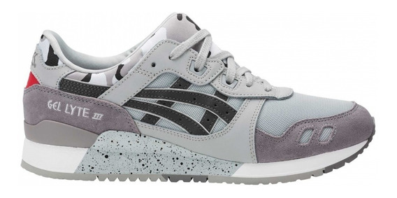 Tenis Asics Hombre Gris Casuales Gel Lyte Iii H7y0l9695