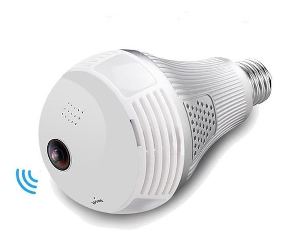 Cámara Foco 360 Panorámica Wifi Observa Graba De Celular