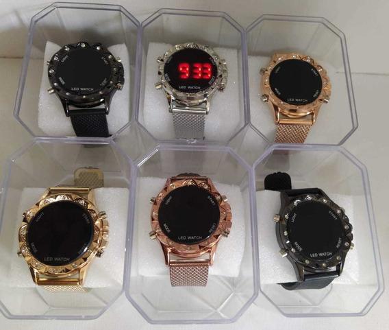Kit C/10 Relógios Digital Feminino+caixas Atacado Revenda