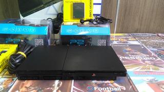 Playstation 2 Ps2 (destrvdo) 2 Controles Sem Fio + 10 Jogos