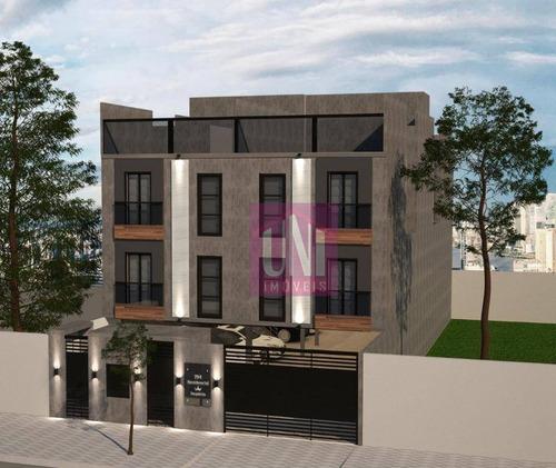 Cobertura Com 2 Dormitórios À Venda, 86 M² Por R$ 333.000 - Jardim Utinga - Santo André/sp - Co0749