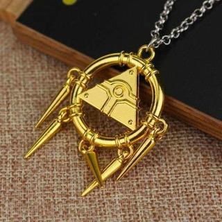 Yugioh Collar Sortija Del Milenio Dorado Yu Gi Oh Yugi Metal