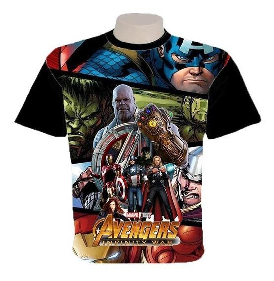 Camiseta Os Vingadores Guerra Infinita Estampatotal Infantil