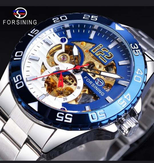 Relógio Forsining Mecânico Sports Masculino - Lindo