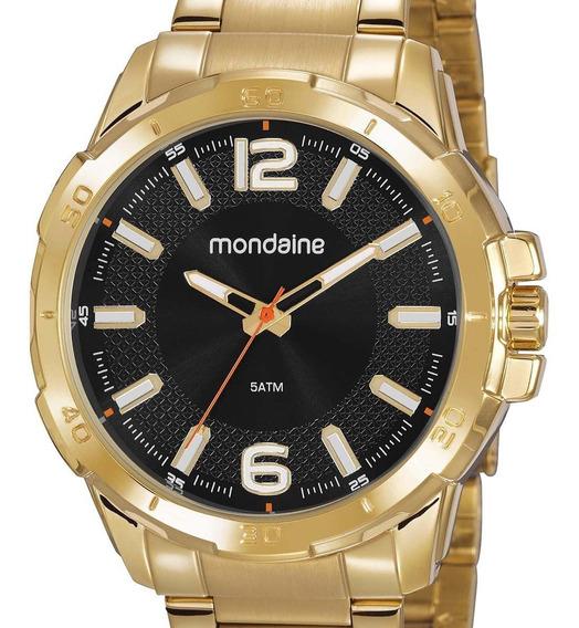 Relógio Mondaine Masculino Dourado 53791gpmvde3 + Nf-e