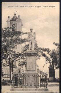 Porto Alegre - Estátua Do Conde De Porto Alegre