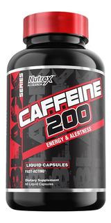 Cafeína Nutrex 200mg Importada E U A 60 Caps Liquidas