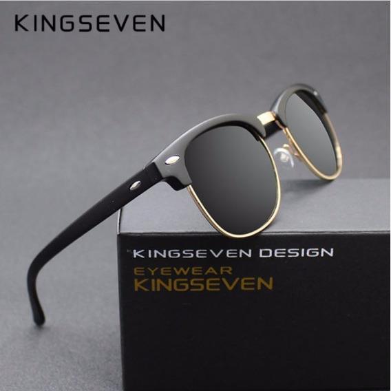 Óculos De Sol Kingseven® Clubmaster Polarizado Uv400- Oferta
