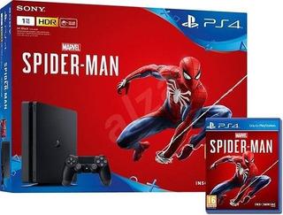 Ps4 Play Station 4 Slim 1tb Spider-man Marvels