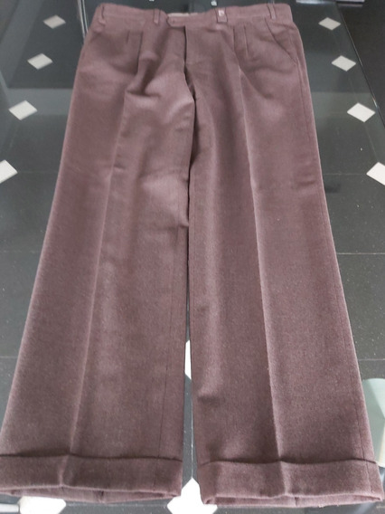 Pantalón Corte Clásico De Hombre Color Marrón