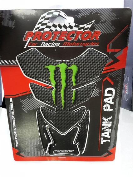 Tank Pad Linha Tradicional Monster Fibra De Carbono / Ver...
