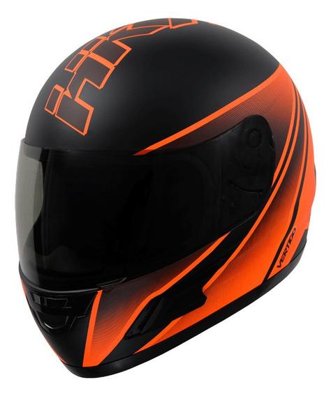 Casco para moto integral Vértigo HK7 naranja mate talle XS