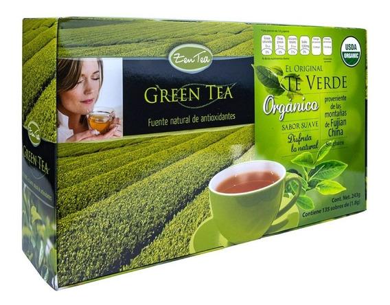 Té Verde Zen Tea Orgánico Con 135 Sobres
