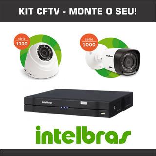 Kit Cftv Intelbras Dvr Cameras Hd - Monte O Seu!