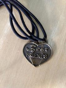 3 Colares Best Friends - Amizade Coração 3 Partes Amigas