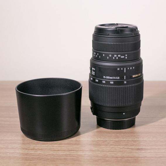 Lente Macro Sigma 70-300mm F/4-5.6 Apo Dg Para Nikon