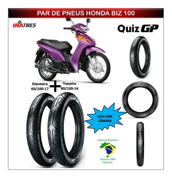 Pneus Honda Biz 100 Todas Par Dianteiro E Traseiro Ira