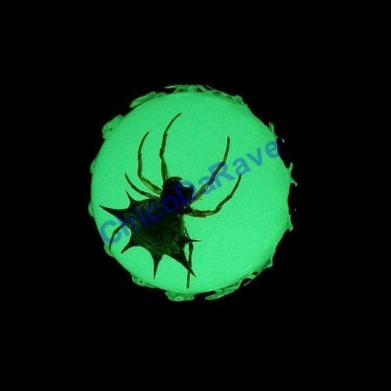 Anel Aranha Espinhosa Fosforescente Brilha Escuro Halloween