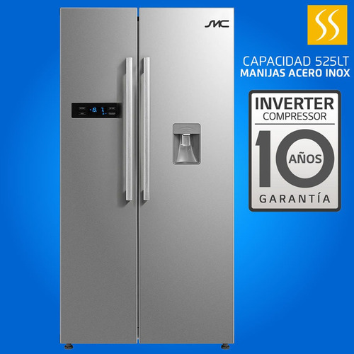 Refrigeradota Smc 525lts Side By Side Dispensador 10 Años