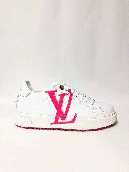 Tenis Lv Louis Vuit**on Sneaker Blanco Foto Real