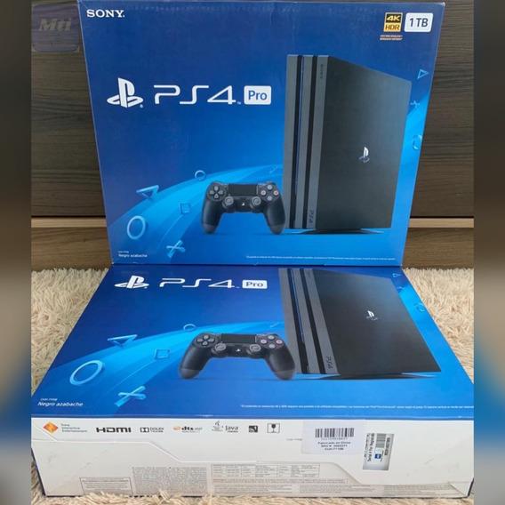 Ps4 Pro 4k 1 Tb Novo Original Sony 7115b Novo Lacrado De Fábrica