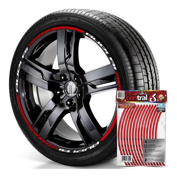 Filete De Roda Audi A1 Refletivo Vermelho
