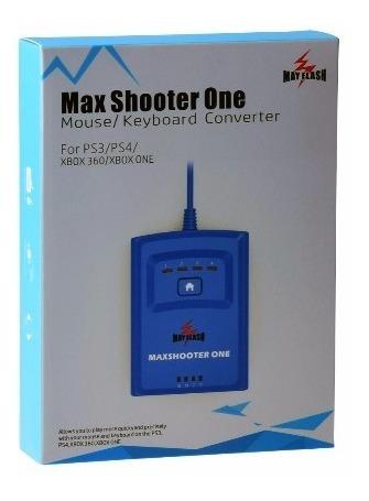 Adaptador Max Shooter One Teclado Mouse Headset Vídeo Game