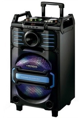 Caixa Amplificada Bluetooth Mp3 Microfone Violão Com Rodinha