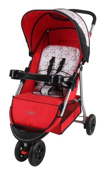 Carrinho De Bebê Junne Macaco Vermelho Até 15kg Baby Style