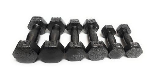 Kit De 6 Mancuernas De Metal 1 2 Y 3 Kg Irrompible A Caidas