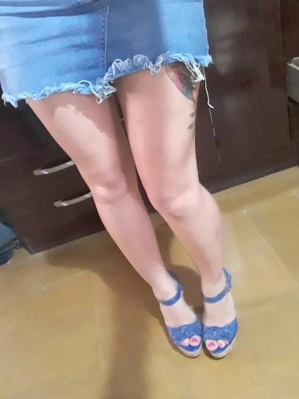 Zapato Azul Con Plataforma