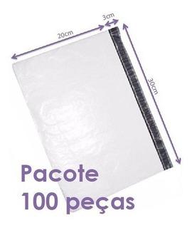 Envelope Plástico Segurança Inviolável Tipo Sedex 30 X 20
