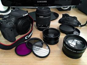 Kit Canon Eos Rebel T6i + Lente 18-55mm Usm + Acessórios