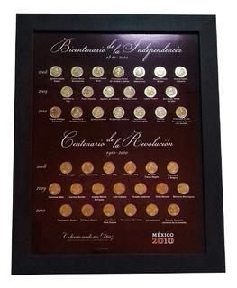 Cuadro Para Monedas De 5 Pesos Del Bicentenario Y Revolucion