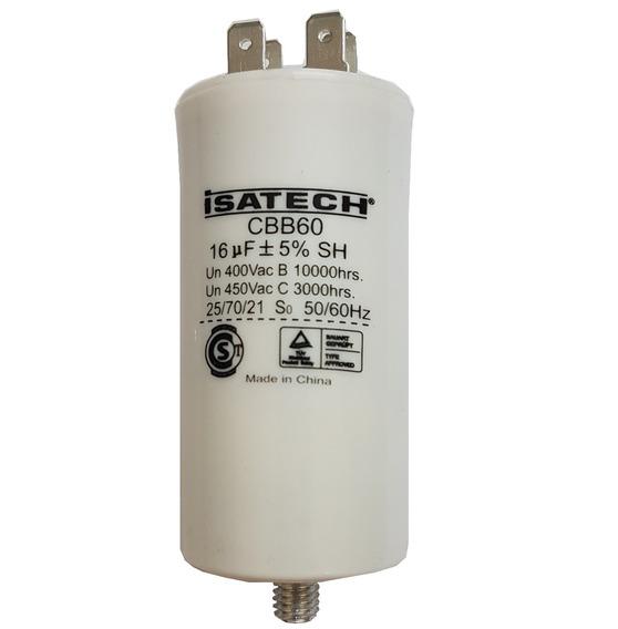 Capacitor De Marcha 16uf Con Tornillo - Isatech