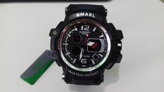 Relógio Digital E Analógico S-shock Á Prova D´água Smael