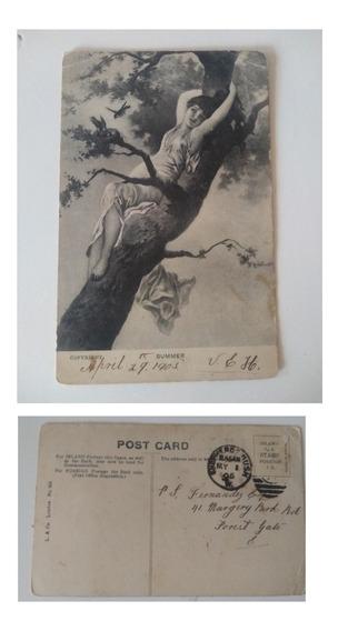 Postales Antiguas- 1905 -inglaterra- Mujeres