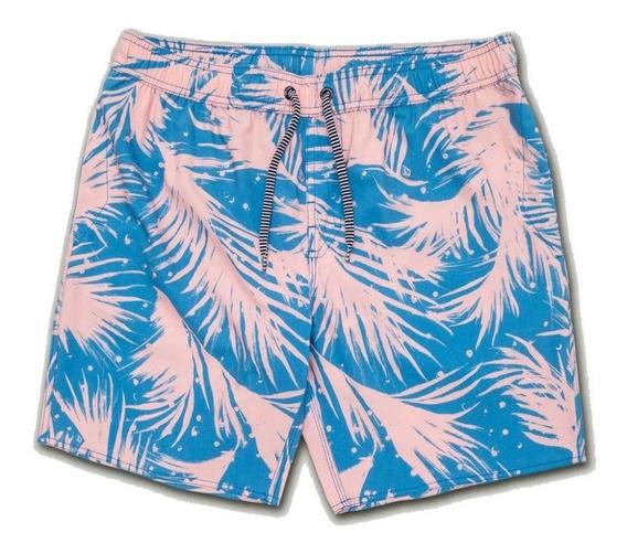 Shorts Volcom Las Palmas Azul/rosa