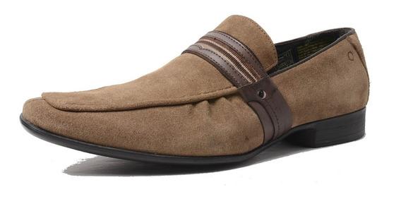 Zapato De Cuero Democrata Hombre Mocasin Buena Vista 476002