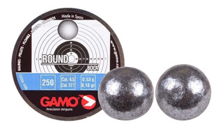 Balines Gamo Round 4.5 X250u - Esfericos Premium Caza Pluma
